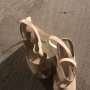 Aldo Shoes - Aldo suede nude wedges